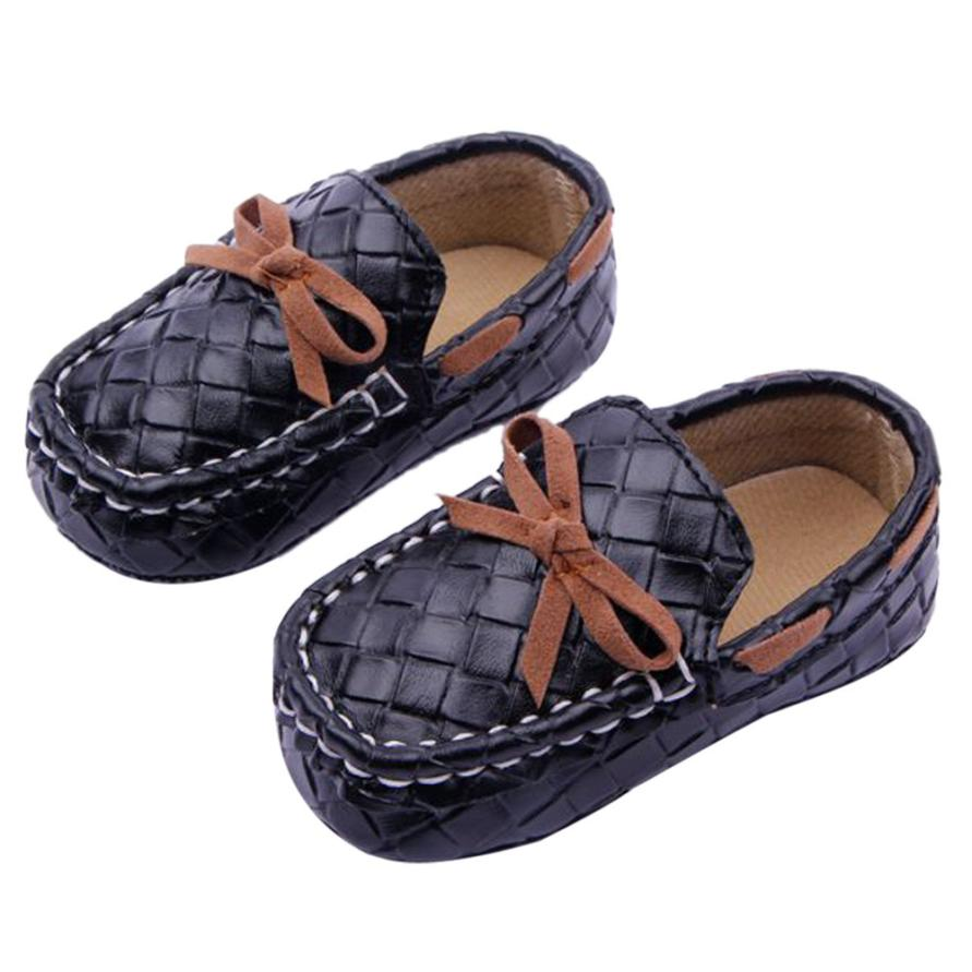 Newest Baby Boy Girl Soft Sole Crib Warm First Walker Shoes PU Leather Boat shoes for 0-18M Unisex Spring Autumn