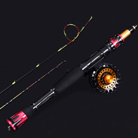 1.2m 1.5m semi titanium alloy double rod telescopic raft fishing rod micro lead rod sea fishing rod boat fishing