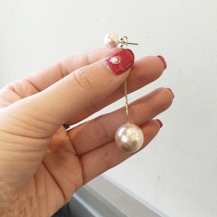 Mengjiqiao серьги для женщин простые с искусственными жемчужными