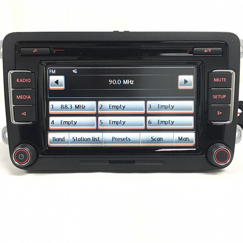BODENLA RCD510 Car Radio Stereo CD Player USB AUX SD With Code For VW Tiguan Golf 5 6 Jetta MK5 MK6 Passat Polo Touran