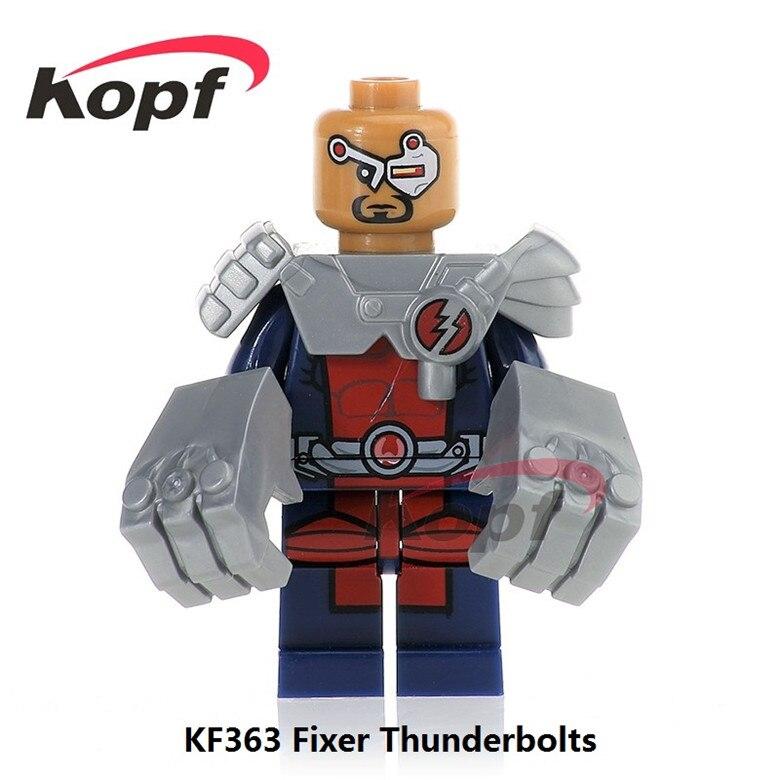 50Pcs KF363 Fixer Thunderbolts Super Heroes Guardian Alpha Flight Classic Yondu Building Blocks Best Education Toys for children