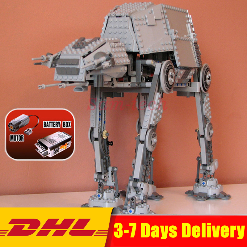IN STOCK LEPIN 05050 Star 1137pcs Series Wars AT-AT the Robot Electric Remote Control Building Blocks Toys Compatible 75054 Gift конструктор lepin star plan бронированный шагоход at at 1137 дет 05050