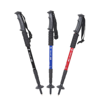 New Aluminum Alloy Telescopic Walking Stick Adjustable Trekking Alpenstock Climbing Hiking Outdoor Pole Canes FS