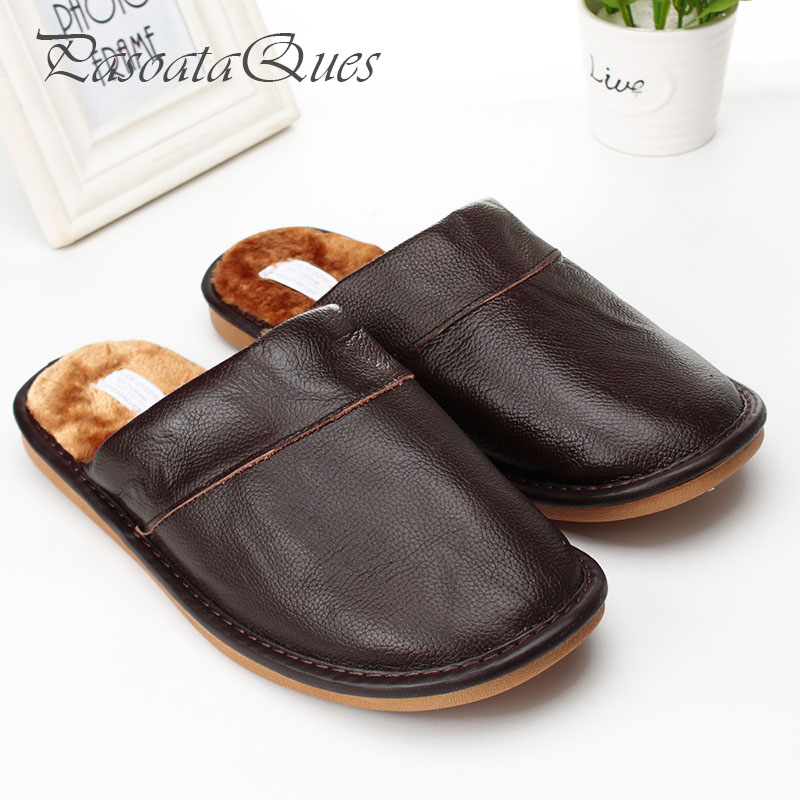 Real Leather Autumn Winter Men Women Shoes Warm Breathable Home House Indoor Spring Slippers Pasoataques Brand Asspfle092 new spring cute women slippers breathable comfortable soft house indoor home women shoes pasoataques brand