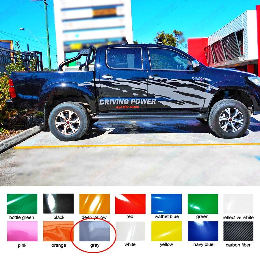 Для hilux revo vigo настроить автомобиль наклейки 2 PC грязи боковой двери полосы графических винилы нуля защиты наклейки на автомобиль