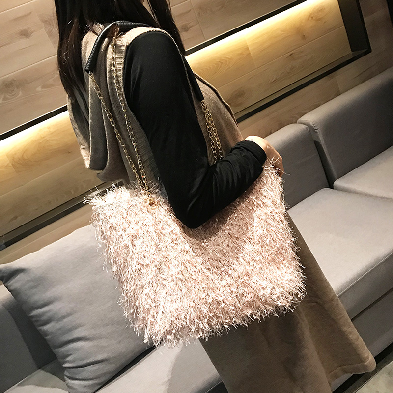 YILIAN2019 new MAO MAO chain fashion women 39 s bag in Shoulder Bags from Luggage amp Bags