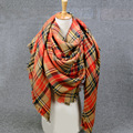 2016 blanket scarf Women Winter Plaid pashmina cashmer foulard echarpe long Wool Scarf Women Shawls and Scarves Luxury brand