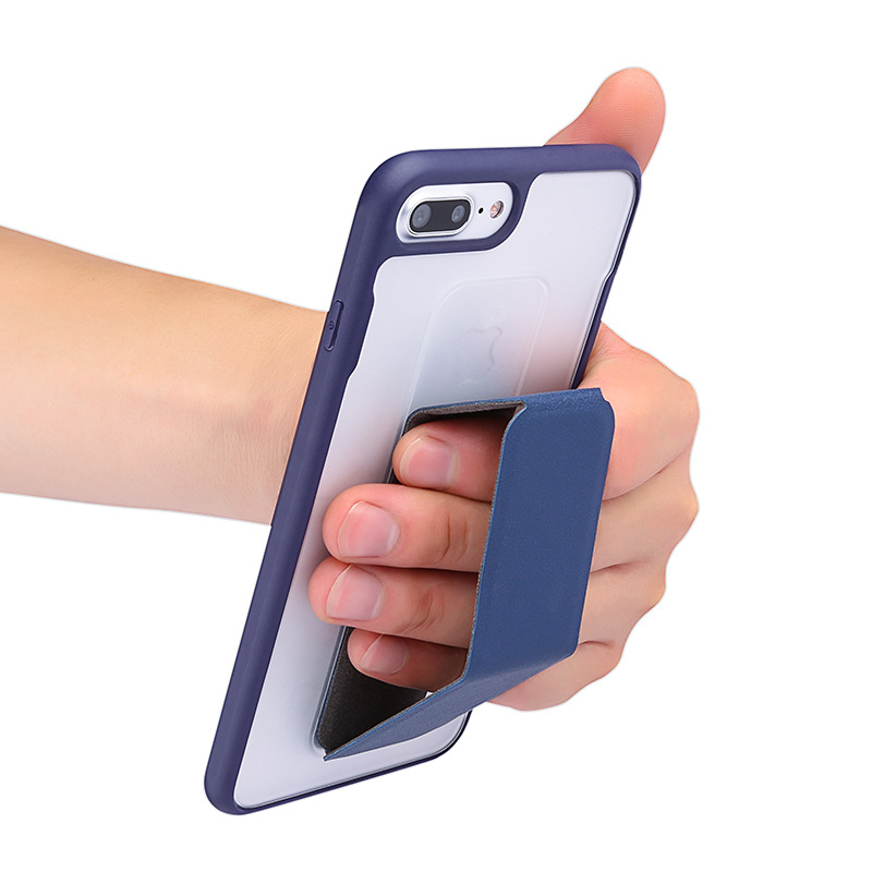 Phone Holder Car PU Magnetic Back Sticker Convenient Finger Ring Stand Lazy Mobile Phone Tablet Universal Magnet Mount Foldable