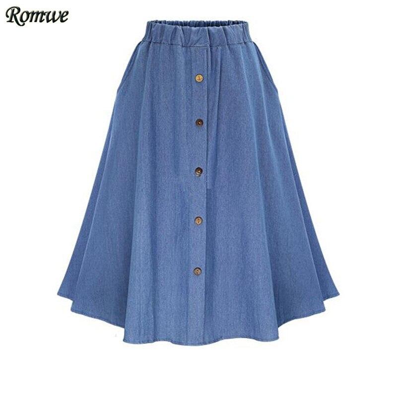 romwe casual skirts summer 2016 new womens plain