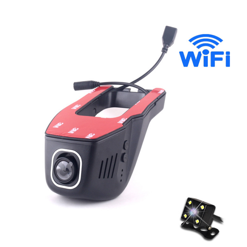 Null Car DVR Camera 1080P Full HD Hidden Video Recorder Wifi Dual Lens Hidden Wifi Camera Strong Night Vision Car DVR With 2 Cam dual lens novatek 96655 sony imx322 car wifi dvr for mercedes benz r 2015 ml gl w164 x164 2006 2012 hidden installation