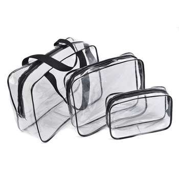 New Portable Clear Travel Cosmetic makeup organizer Bag Transparent Storage Bags functional bag pencil case zebra stripe portable makeup cosmetic case storage travel bag