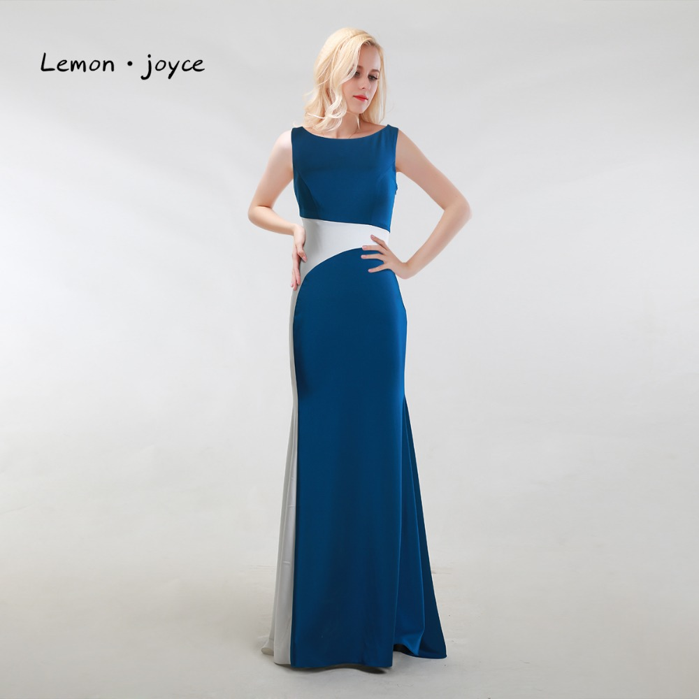 Formal Evening Dresses Gowns Long 2017 New Style Elegant Scoop Neck Sleeveless Simple Party Dresses Special Occasion Gowns gown