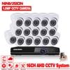 CCTV Camera System AHD DVR 16CH 720P HD 1 0 Megapixels Enhanced IR Security Camera With