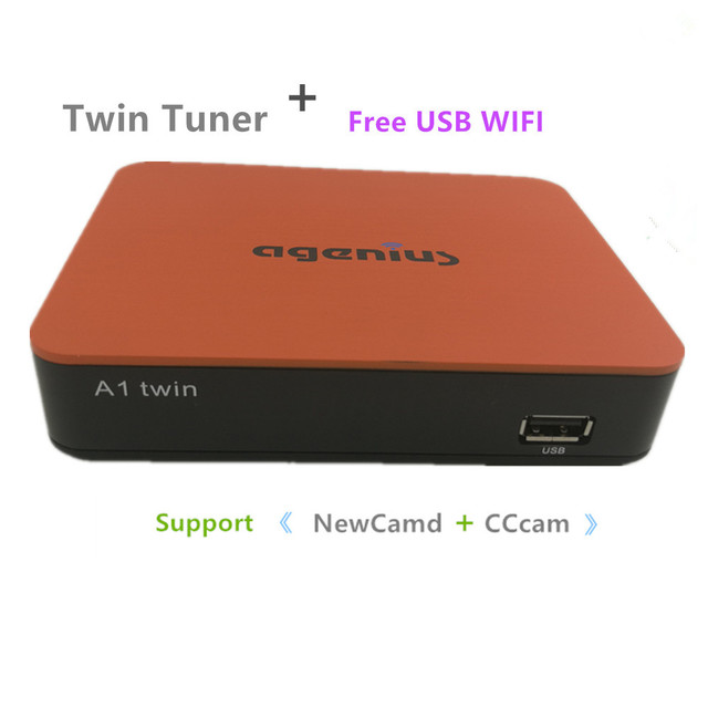 US $55 69 |Free Shipping 2019 New Model DVB S2 With Twin Tuner Support  Newcamd Cccam H 265 PlayVideo Youtube Wifi Usb Support South America-in