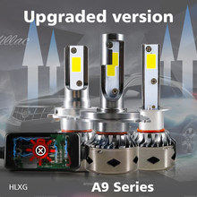 HLXG Mini Size CANBUS No Error For Audi A3 A4 Lamp H7 LED H4 H11 H1 6000K Bulbs 12000LM Auto Car Headlight Kit h7 led 9005 9006(China)