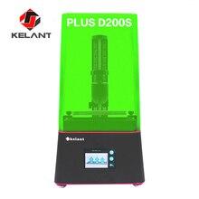 Kelant impresora 3D Orbeat Plus D200S 2k SLA, impresora láser de resina UV para escritorio, 405nm, pantalla LCD de 3,5 pulgadas, impresoras DLP 3d, kit diy