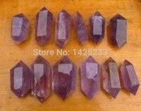 12 unids Muy natural amatista varita de cristal punto de la terapia