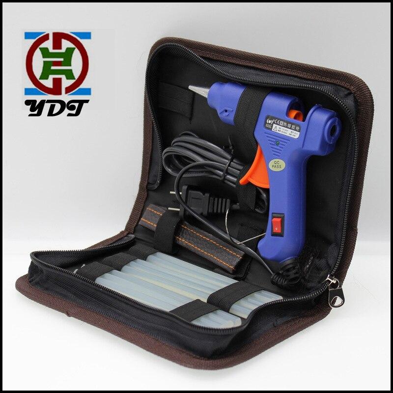 Бесплатная Вт Доставка 20 Вт EU US Plug термоклеевой Пистолет наборы с мм 7 мм клеевой палкой мини-пистолеты термо-Электрический термоинструмент