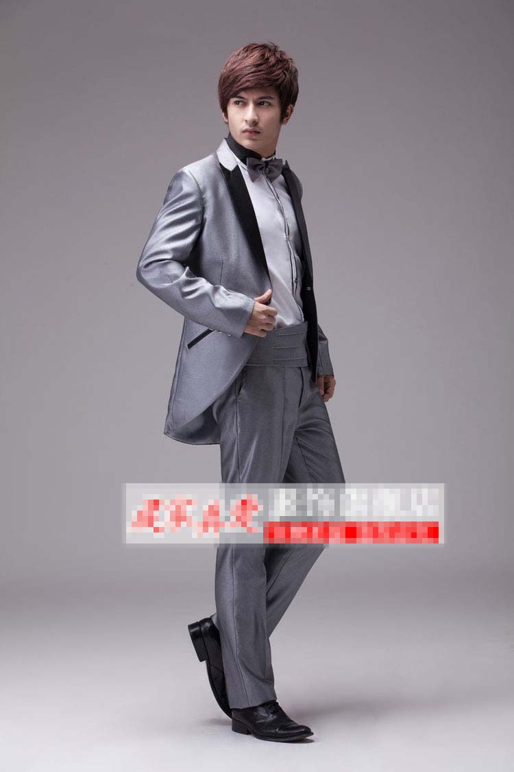 new 2014 tuxedo man costumes new marriage the groom, holds the dress ...