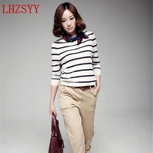 Hot new spring and thin striped Cashmere Cardigan Sweater jacket  bottoming wild fashion Free shipping