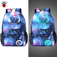 2016 Fashion Noctilucent Men S Backpack Anime Luminous Teenagers Men Women Student Cartoon School Bags Casual