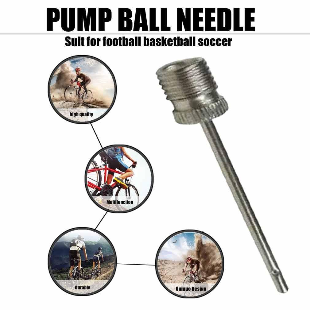 Esportes bola inflar bomba agulha para futebol de basquete de futebol inflável válvula de ar adaptador de aço inoxidável bomba pino bicicleta