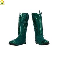 Aquaman Arthur Cosplay Boots Superhero PU Leather Boots Cosplay Costume Accessories For Halloween Adult