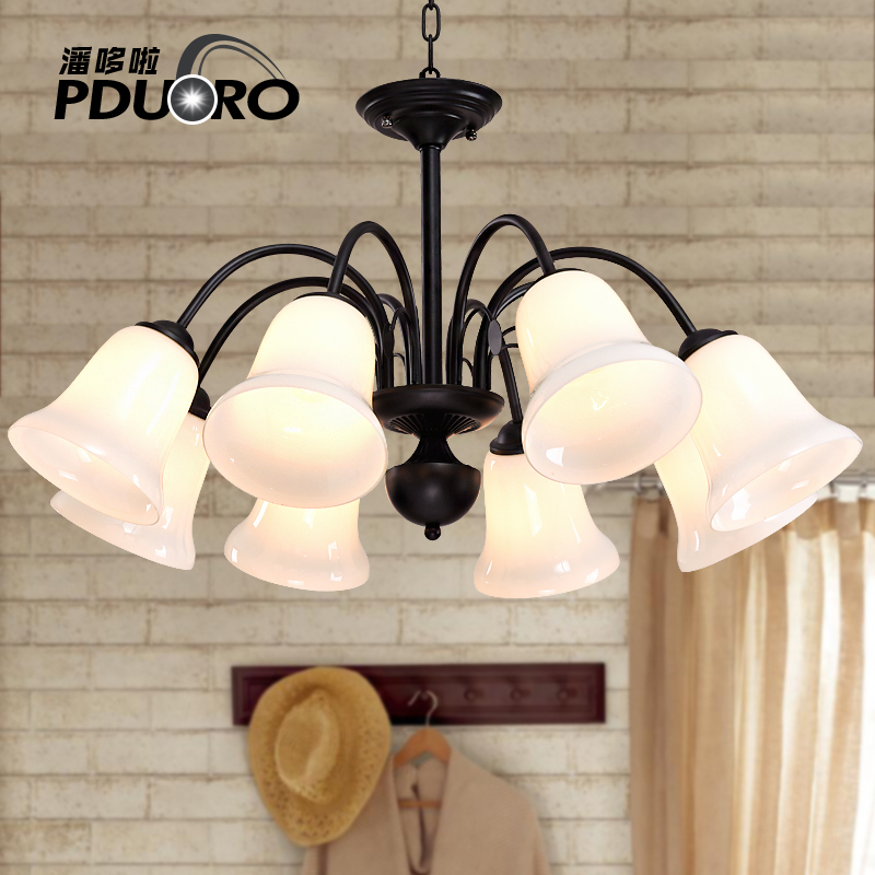 Living room Ceiling lamp iron art warm bedroom Lamparas Glass Chandeliers 110-220v Dining Chandelier Luminaria villa lighting multiple chandelier sale chandeliers dining room bedroom lamp villa simple lighting d8 056 iron stores zx20