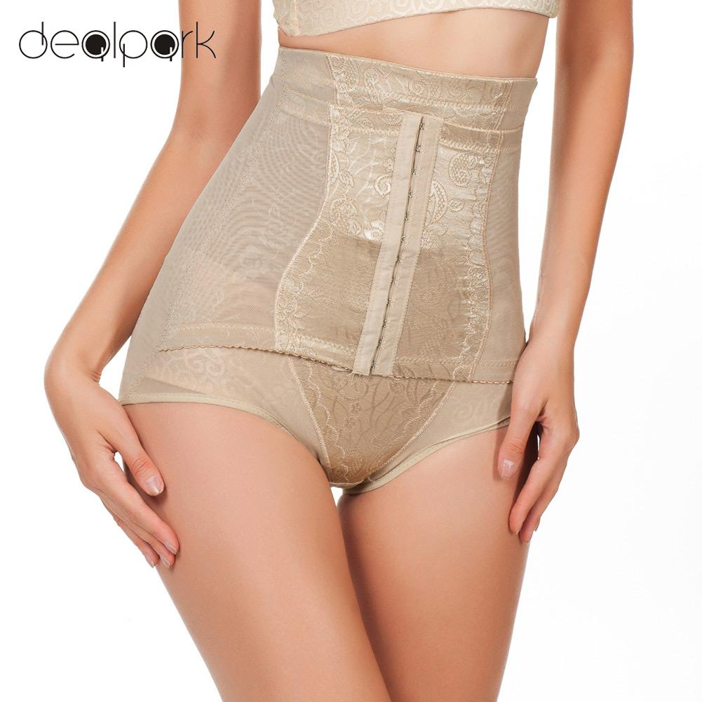 a08d63a257670 Postpartum Corset Waist Trainer Women Underwear Slimming High Waist Briefs  Adjustable Tummy Control Panties Girdles Body Shapers