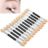 New Hot Sale 12x Makeup Double-End Eye Shadow Sponge Brushes Applicator Cosmetic Beauty Tool 3ER