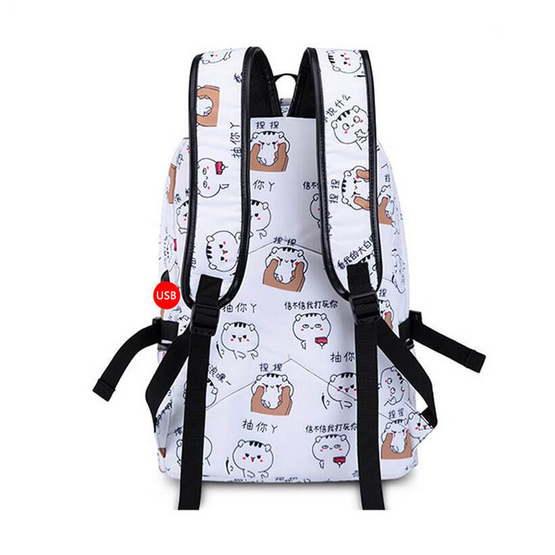 Girls School Backpack Fashion Girl Schoolbag Female Korean Style Blue Canvas Cartoon Backpack Cute Plush Ball Kids Bag Ceiling Lights & Fans