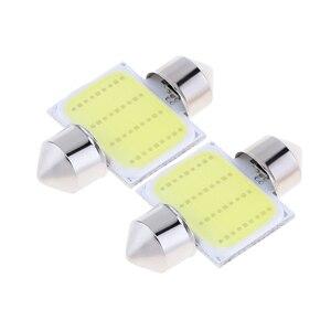 Image 3 - 2 pièces voiture LED dôme lumière 12  SMD CoB voiture Auto intérieur carte dôme plaque dimmatriculation remplacement lumière Kit blanc ensemble de lampe