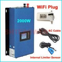 2000W MPPT inverter for solar panels system DC 45 90V input to AC output 110V 120V 220V 2KW Grid Tie inverter limiter sensor