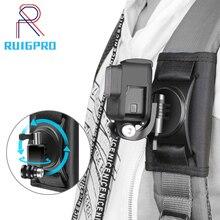Güncelleme spor kamera sırt çantası klip dağı 360 derece döner için Xiaomi Yi Gopro Hero 8 7 6 5 4 eylem kamera aksesuarları