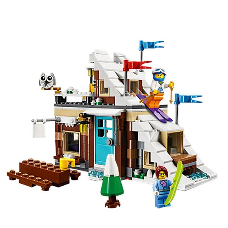 24045 Creator 3in1 Modular Winter Vacation Building Blocks kit Bricks Kids Classic City Model Toys For Children Compatible Legoe
