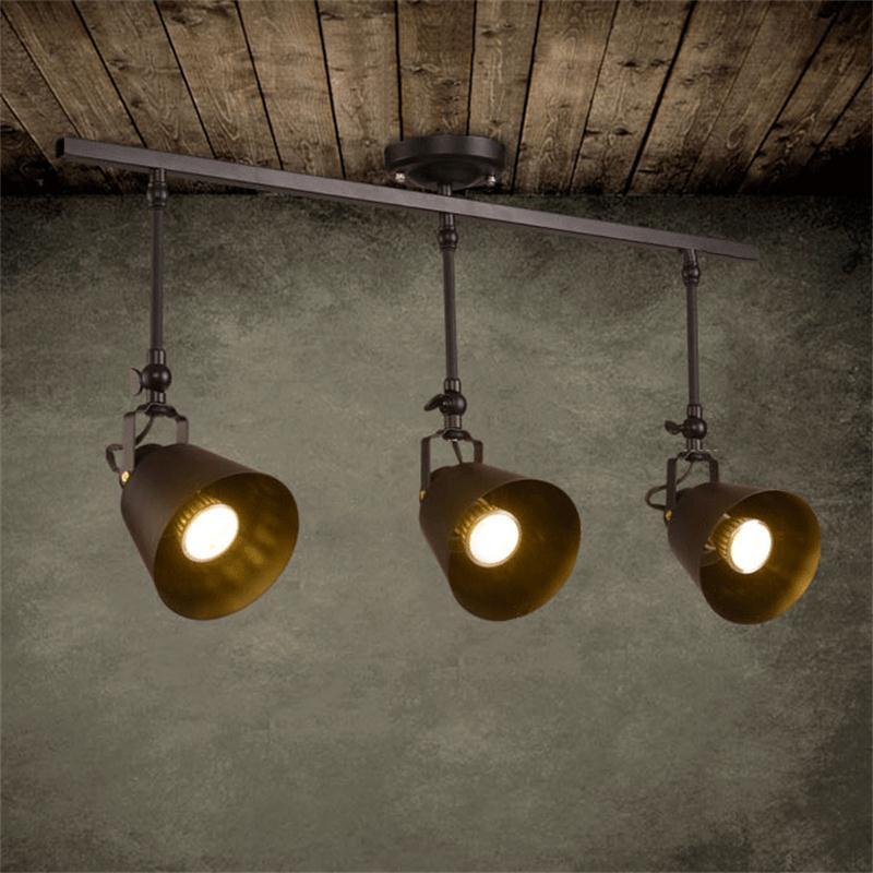ФОТО Loft Retro LED Ceiling Lights 5W/10W/15W/20W Living Room Bedroom Plafon Lighting Creative Personality Ceiling Lamp Home Lighting