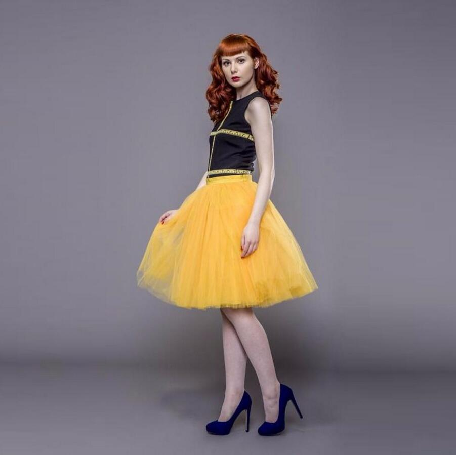 a64e2f18ef Yellow Knee Length Tulle Skirt - Gomes Weine AG