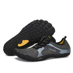 Летняя обувь для воды мужские пляжные сандалии дышащая быстросохнущая обувь Человек быстросохнущая река море шлёпанцы женщин дайвинг