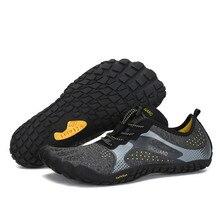 รองเท้าฤดูร้อนชายชายหาดรองเท้าแตะต้นน้ำรองเท้า Aqua Man Quick DRY River Sea รองเท้าแตะดำน้ำว่ายน้ำถุงเท้า Tenis Masculino