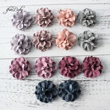 Fashion flowers for hair accessories Synthetic Leather flowe