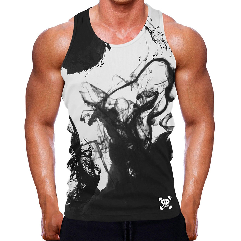 ZOGAA Mens Tank Tops Shirt Casual Printed Sleeveless Vest U Neck Gym Bodybuilding Fitness Clothing for Men Tanks Top