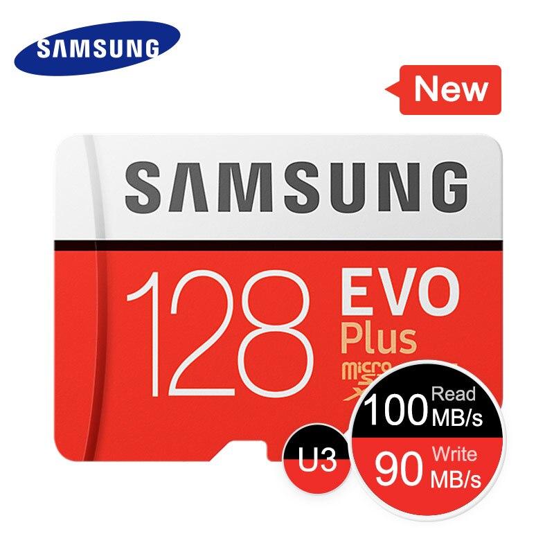 SAMSUNG Memory Card EVO+ 128GBEVO Plus SDHC SDXC Micro SD Grade EVO+ EVO Class 10 C10 Max Speed 100M/S