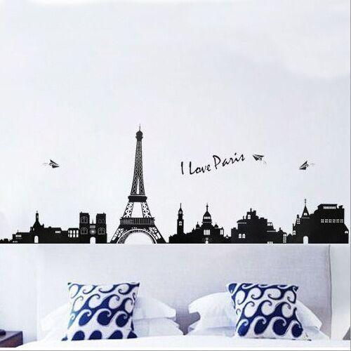 Paris Eiffel Tower Diy Removable Wall