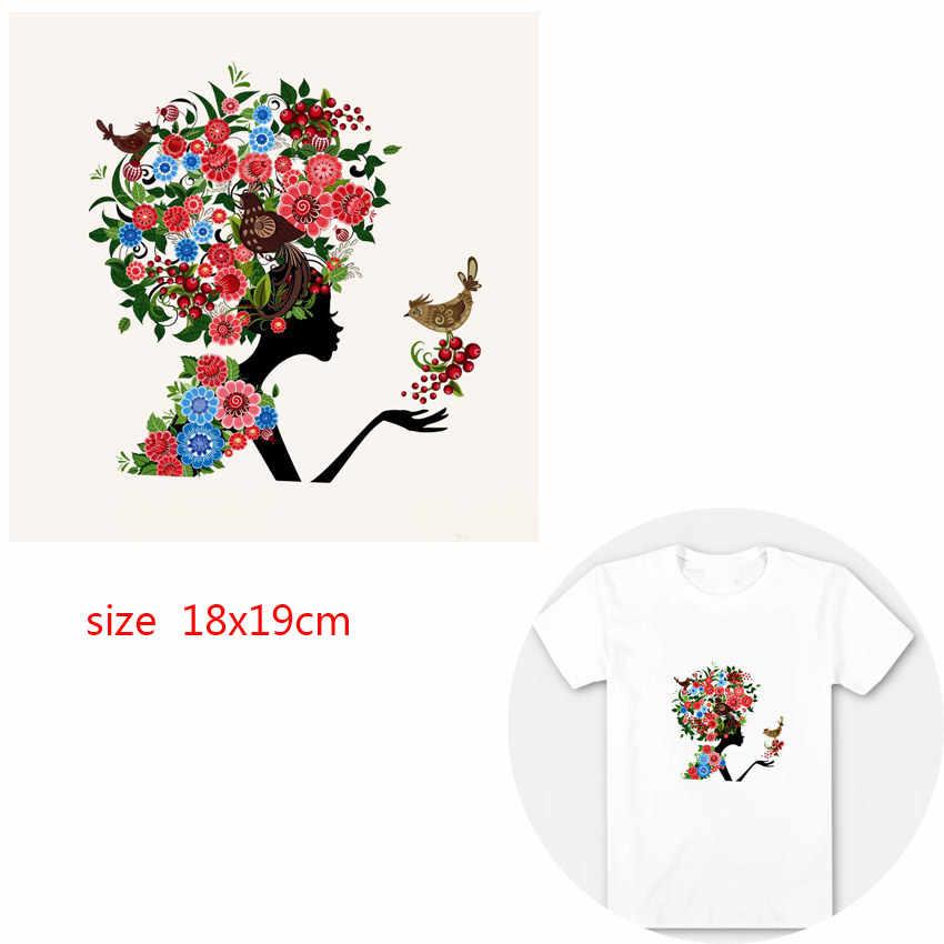 DIY parches de Ángel para bebé para ropa, guirnalda de transferencia de calor, bonita camiseta de planchar con flores para niños, vestidos, apliques lavables con alas B