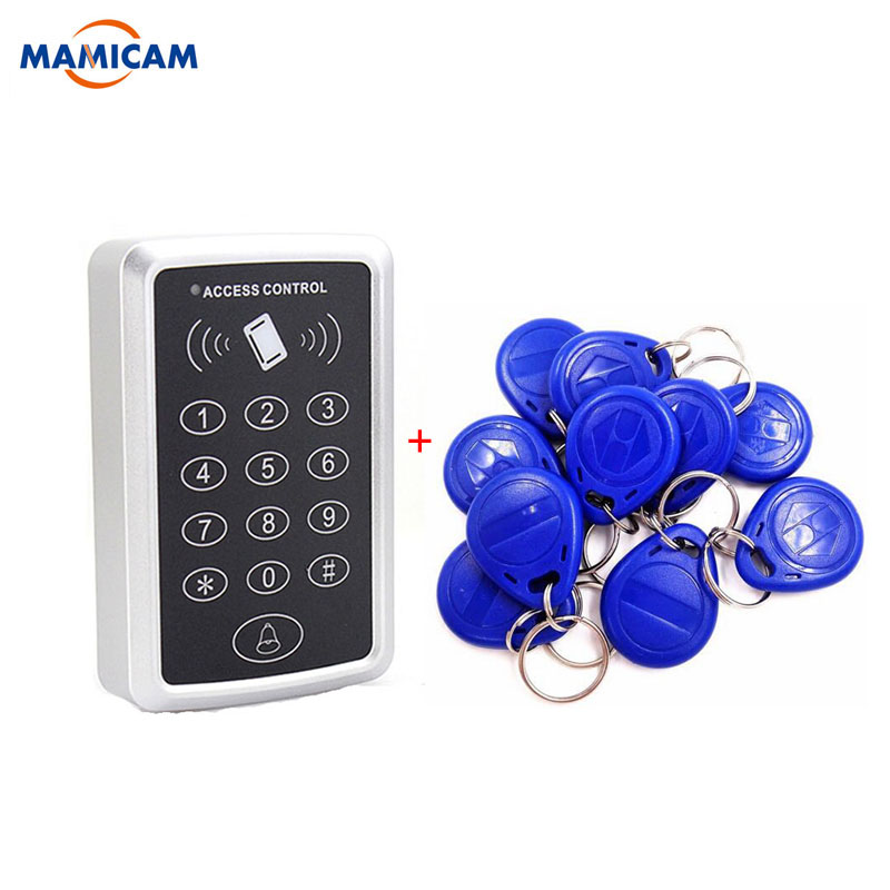 rfid proximity entry lock door access control system with 10 rfid card free shipping 125KHz Single RFID Card Proximity Entry Door Lock Access Control System With +10pcs RFID Keys Key Fob