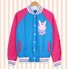 High Quality Game Character OW D.VA cotton Hoodie Sweatshirt halloween Cosplay Costume kawaii Rabbit in stock