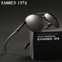 INTERDIT 1976 Hommes lunettes de Soleil Polarisées 2018 Marque de mode nouveau Designer Conduite Lunettes Aviation Rétro Classique nuances boîte d'origine