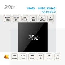 X96 Android 7,1 ТВ ip коробки ТВ Amlogic S905X 2 ГБ DDR3 16 ГБ EMMC 4 ядра 2,4 ГГц WI-FI HDMI 2,0 4 К HD Smart Декодер каналов кабельного телевидения PK X96 мини
