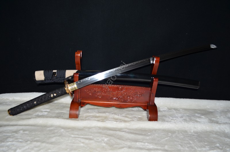 JAPANESE SAMURAI BATTLE READY KATANA SWORD T10 CLAY TEMPERED FULL - Տնային դեկոր - Լուսանկար 1