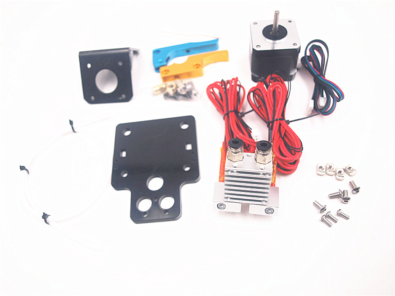 FunssorTarantula 3D printer Dual Extruder Upgrade Fully Kits Dual Extruder kit 12V Nema 17 stepping motor flashforge 3d printer dreamer wifi and touchscreen with ce fcc certificate dual extruder fully enclosed chamber w 2 free spool